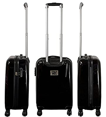 Panther Large Carbon/100% Pure Polycarbonate Hard Shell Suitcase Trolley Case by Bowatex