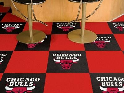 "Chicago Bulls NBA Carpet 18""x18"" Tiles"
