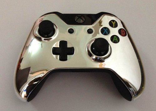 xbox-one-silver-chrome-controller-housing-replacement-shell-original-top-shell