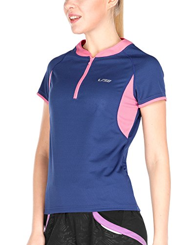 4Ucycling bici ciclismo maglietta sportiva Maglietta da ciclismo, da uomo da donna Jersey, blu
