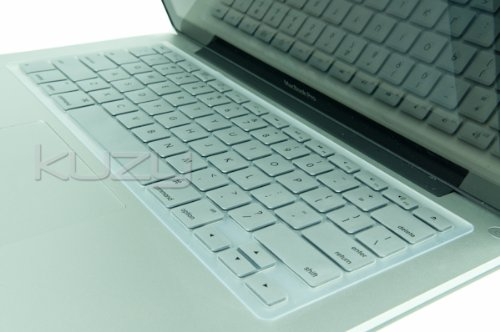 =>>  Kuzy - METALLIC SILVER Keyboard Cover Silicone Skin for MacBook Pro 13