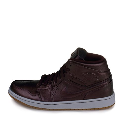 Nike air Jordan 1 MID Men's Nouveau Burgandy/White 629151-605 (SIZE: 11)