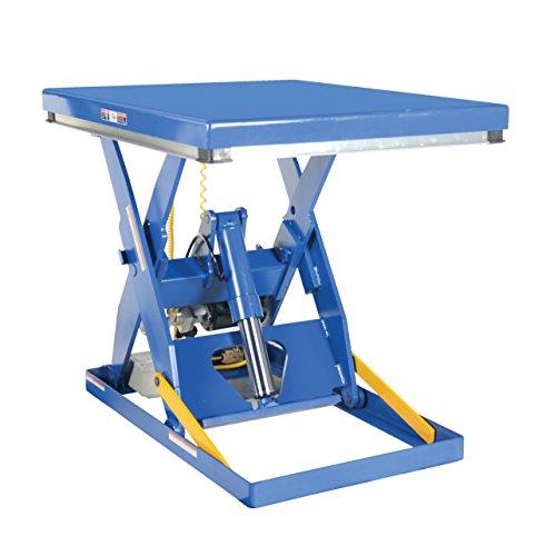 "Vestil Ehlt-4048-4-43 Electric Hydraulic Scissor Lift Table, 4000 Lbs Capacity, 48"" Length X 40"" Width Platform, 8"" - 43"" Height Range"