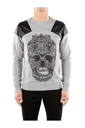 Sweatshirts Philipp Plein Herren Baumwolle Grau und Schwarz HM65537510 Grau L thumbnail