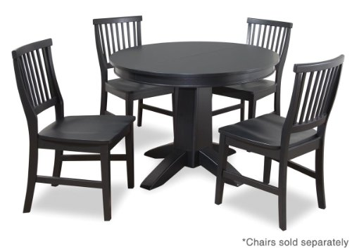 Buy Low Price Home Styles Arts and Crafts Round Dining Table in Black (88-5181-30)
