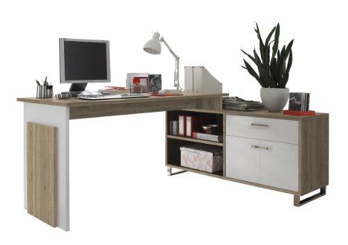 BEGA-39-730-68-Manager-Eck-Schreibtisch-Eiche-Sonoma-Dekor-Tisch-140-x-76-x-65-cm-Sideboard-130-x-62-x-40-cm
