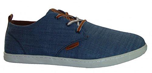 Djinns Low Lau Linen Schuh Farbe: Navy, Gr.-43