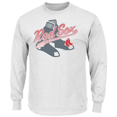 MLB Men's Basic Long Sleeve T-Shirt, White