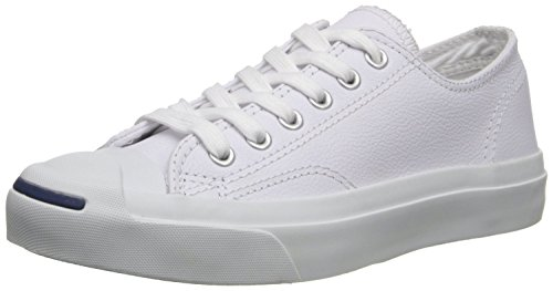 Converse Jack Purcell Leather Fashion-Sneakers, White, 5.5 B(M) US Women / 4 D(M) US Men (Converse Jack Purcell White compare prices)