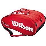 ウィルソン ツアー モールデッド 15PK ラケットバッグ レッド(ラケット15本収納可能)(WRZ843315)<WILSON TOUR MOLDED 15PK BAG RED>