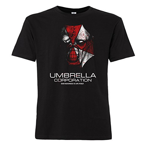 shirtworld - Maglietta Zombie Umbrella Corporation Black Small