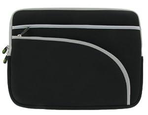 rooCASE Neoprene Netbook Sleeve Case Cover for Gateway 11.6-Inch LT3119u Netbook (Invisible Zipper Triple-Pocket - Black)