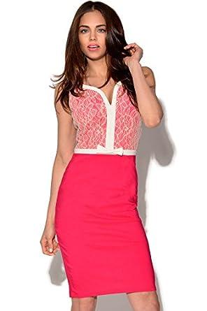Paper dolls pink lace dress