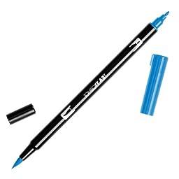 Tombow Dual Brush Pen Art Markers, Cyan 476, 6-Pack