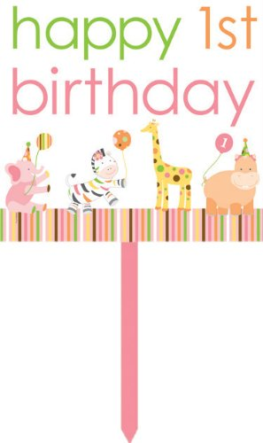 Creative Converting Sweet at One Girls Happy 1st Birthday Yard Sign - 1