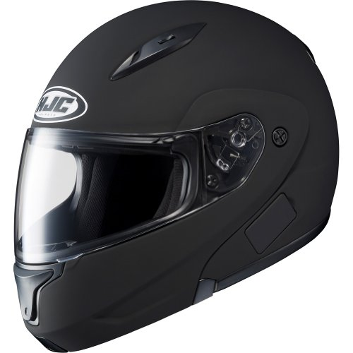HJC Solid Men's CL-MAX II Bluetooth Sports Bike Motorcycle Helmet – Matte Black / Medium