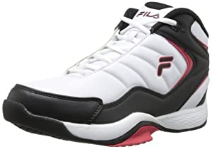 Fila Men's Breakaway 4 Basketball Shoe,White/Black/Fila Red,14 M US