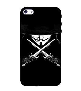 PrintVisa Vendetta Design 3D Hard Polycarbonate Designer Back Case Cover for Apple iPhone 5 :: 5S