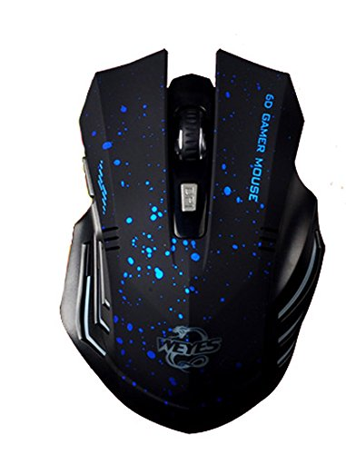 Pag 1600 Dpi Silent 2.4Ghz Wireless Optical Mouse Mice Gaming Mice Blue