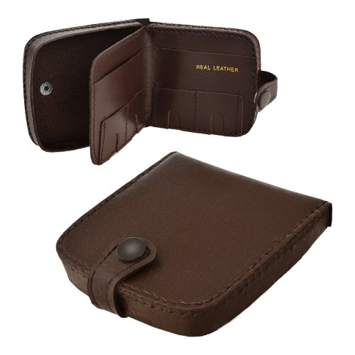NEW Mens womans Leather Wallet Coin Tray Purse Note and Coin Holder in Brown / Tan .