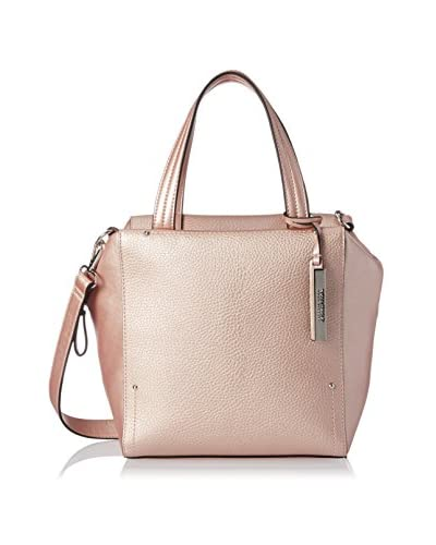 Kenneth Cole REACTION Women's Tulip Satchel, Metallic Blush As You See