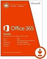 Office 365 Famille - 5 PC ou Mac + 5 tablettes/Ipad - Abonnement 1 an [Téléchargement]