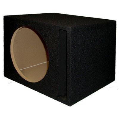 New Single Car Black Subwoofer Box Ported Automotive Enclosure for 12