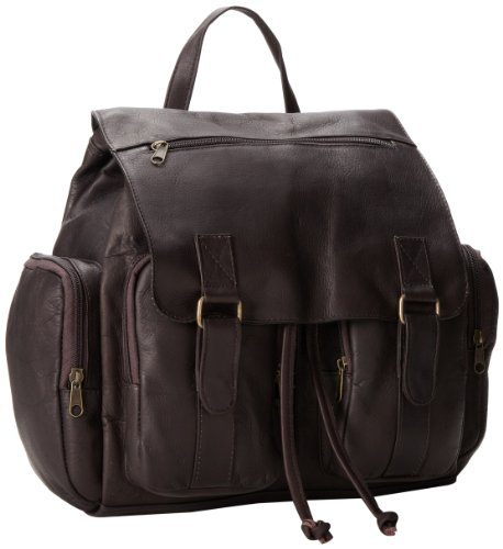 B000F29V9E David King & Co. Laptop Backpack with 2 Front Pockets, Cafe, One Size