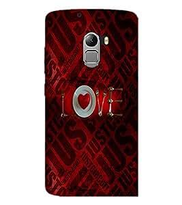 PrintDhaba Love D-4526 Back Case Cover for LENOVO K4 NOTE A7010 (Multi-Coloured)