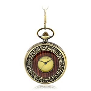 Creddeal Steampunk Pocket Watch Roman Number Half Hunter - Antiqued Brass Tone Pw038 With Gift Box
