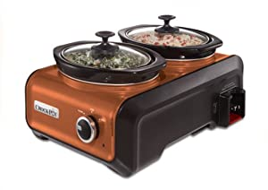 Crock-Pot SCCPMD1-CP Hook Up Double Oval Connectable Entertaining System, 1-Quart, Metallic Copper