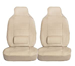 Amazon 2503 2 Front Car Seat Covers Lumbar Support Pu