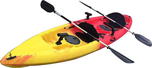 Useful-UH-TK181-125-foot-Red-and-Yellow-Sit-On-Top-Tandem-Fishing-Kayak-Paddles-and-Seats-included