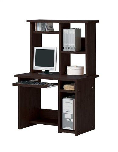 Buy Low Price Comfortable Espresso Finish Home Office Computer Desk with Hutch (B001LV4VQQ)