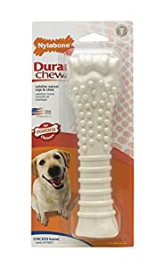 Nylabone Dura Chew Souper Chicken Flavored Bone Dog Chew Toy