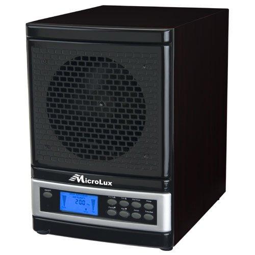 MicroLux ML4000DBK 7-Stage UV Ion Air Purifier with Remote, Black Finish by MicrolLux