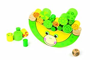 Traditional Wooden Balancing Frog Preschool Toy