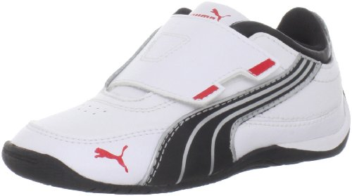 Puma Drift Cat 4 Alt Closure Kids Sneaker (Toddler/Little Kid),White/Black/Puma Silver,10 M US Toddler