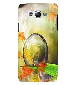 ColourCraft Droplet on Leaf Design Back Case Cover for SAMSUNG GALAXY J7