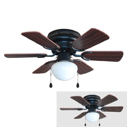 4640 Arcadia 30-Inch Oil Rubbed Bronze Flush Mount Hugger Ceiling Fan ...