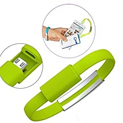 Memore Micro Green USB Bracelet Cable for Android & Windows Smart Phones