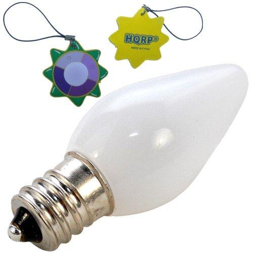 Hqrp E12 Base C7 Led Bulb For Ice Maker / Fridge / Refrigerator Light, Candelabra Base Led Light Bulb Warm White Plus Hqrp Uv Meter