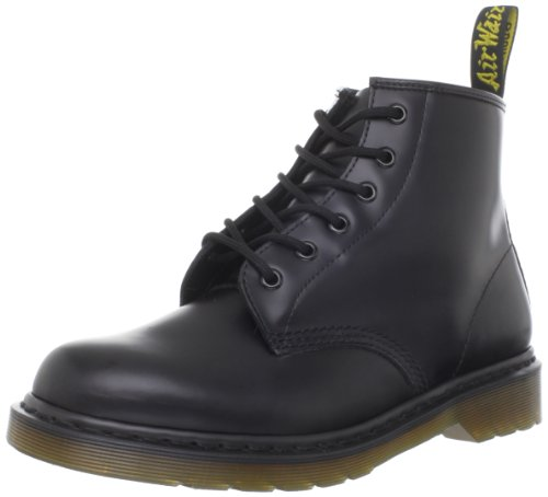 Dr. Martens 101 Smooth 6 Eye Boot , Stivaletti Unisex Adulto, Nero, 45