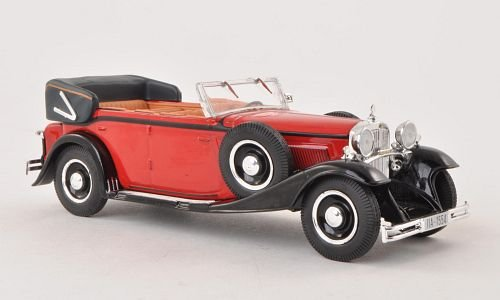 Maybach DS 8 Zeppelin 1930 red/black Whitebox 1:43