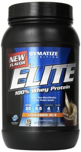 Dymatize Nutrition Elite Whey Shake, Cinnamon Bun, 2 Pound