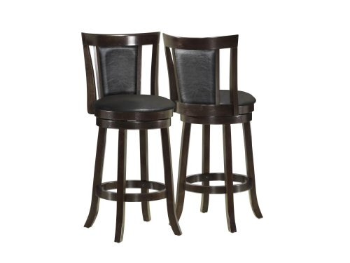 Swell How To Berger Cappuccino Finished Wood 39 Inch Barstools Machost Co Dining Chair Design Ideas Machostcouk