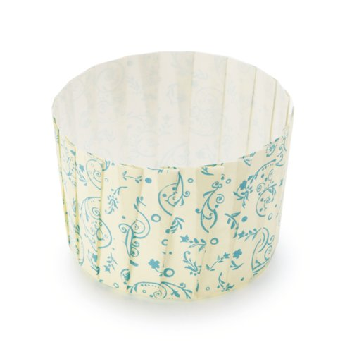 Welcome Home Brands Free Standing Pleated Muffin Cup, Blue Blossom, 480 Pieces Per Pack