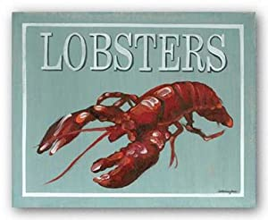 "Lobster by Catherine Jones 10""x8"" Art Print Poster"