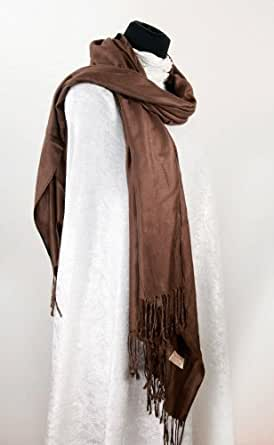 Cashmere Scarf 100% Pure ladies scarves Wrap Shawls Free P&P NEW women (Brown)
