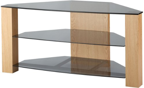 Corner Unit, Glass Shelves Tv Stand